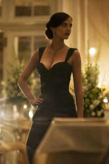 eva green black mermaid evening dress in casino royale