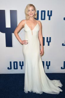 jennifer lawrence classic off white chiffon evening prom dress joy premiere