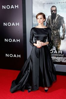 emma watson hollywood vintage black long sleeve ball gown noah premiere
