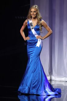 kate pekuri classic royal blue satin mermaid pageant dress miss teen usa 2016