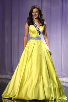 amy ingram beaded yellow satin pageant ball gown miss teen usa 2016