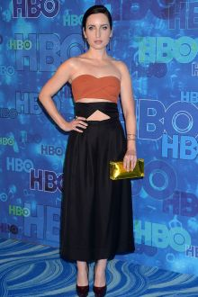 zoe lister jones two piece brown and black ankle length prom dress hbo emmys 2016