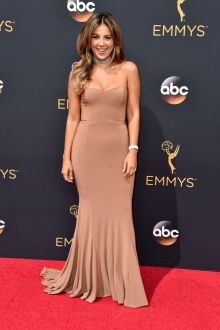 liz hernandez nude chiffon classic dropped mermaid evening prom dress emmys 2016