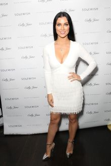 cally jane beech white casual sweet 16 long sleeve cocktail dress cally jane 2016