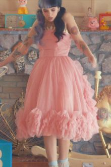 melanie martinez pink knee length sweet 16 celebrity dress in pity party