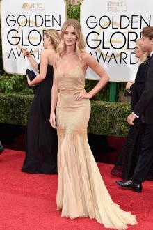 rosie huntington whiteley dress golden globes
